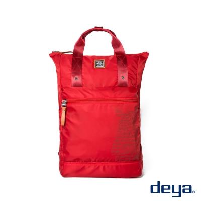 deya 生活趣平口後背包 -紅色