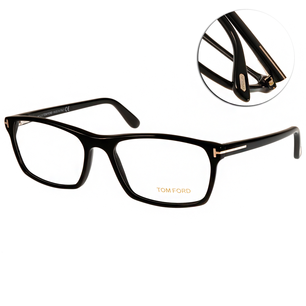 TOM FORD眼鏡 時尚高質感/黑#TOM5295 C001
