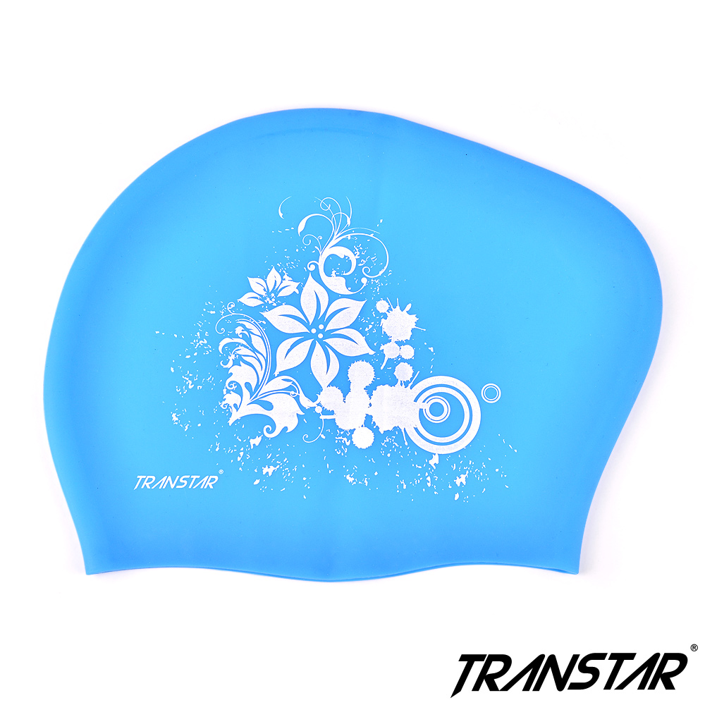 TRANSTAR 純矽膠泳帽-止滑顆粒防靜電-長髮專用