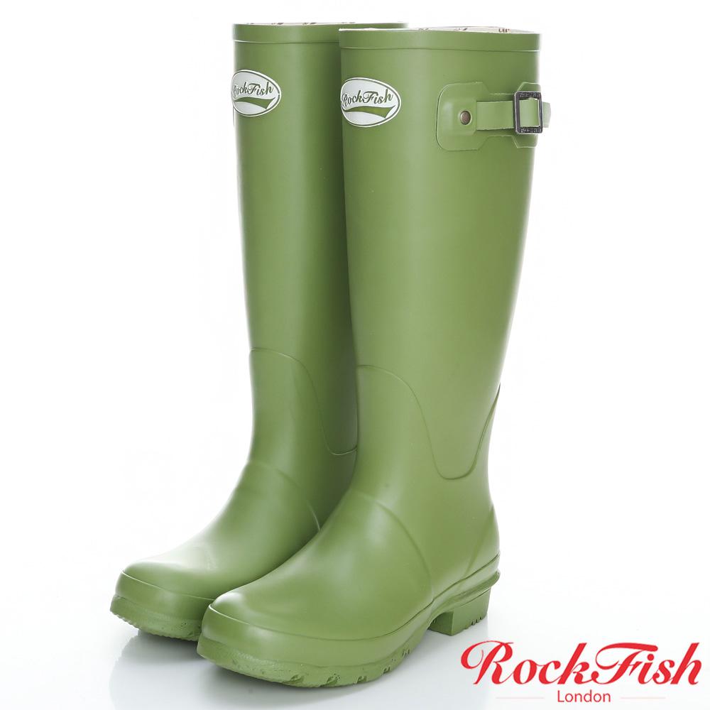 ROCKFISH 質感霧面長筒雨靴 酷色系列 蘋果綠