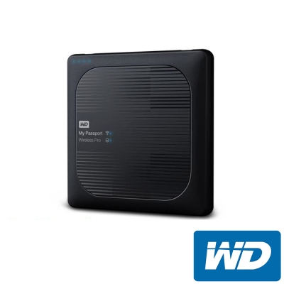WD My Passport Wireless Pro  2 TB  2 . 5 吋外接硬碟