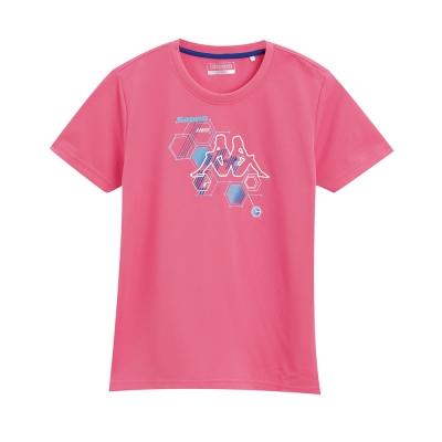 KAPPA義大利小朋友吸濕排汗速乾KOOLDRY排汗衫 亮桃粉 寶藍