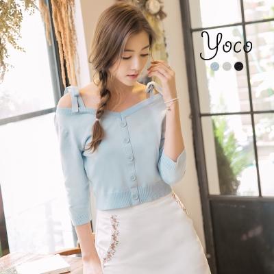 東京著衣-yoco 仲夏寧靜多色一字領針織上衣-S.M.L(共三色)