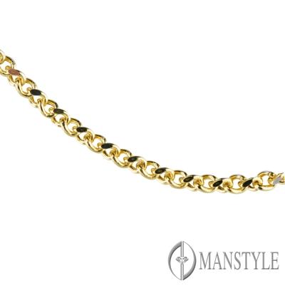 MANSTYLE 義大利14K白金伸縮項鍊
