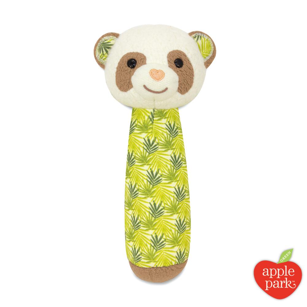 美國 Apple Park 有機棉安撫啾啾棒 - 綠葉貓熊