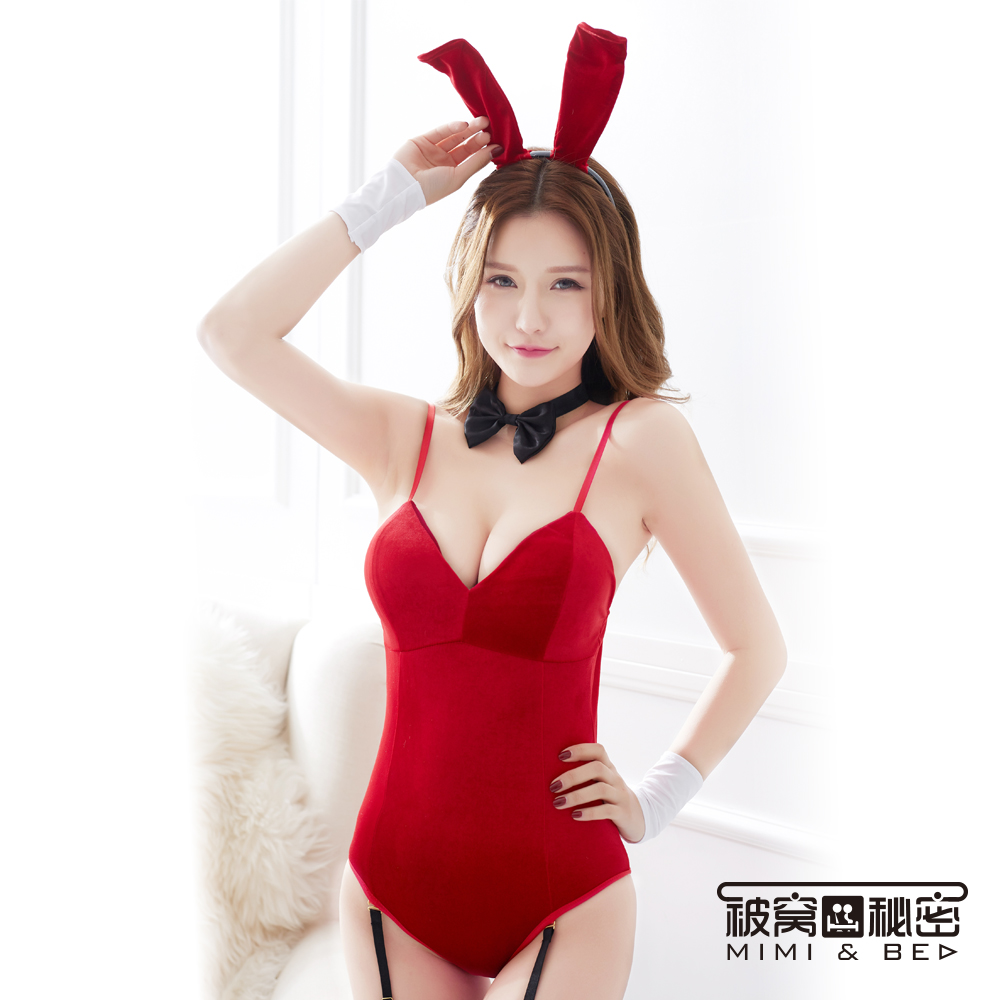 角色扮演服 夢幻復古兔女郎角色扮演服。紅色 被窩的秘密