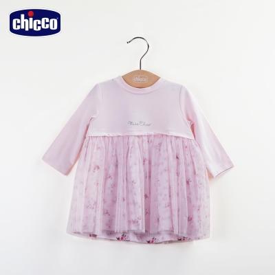 chicco玫瑰公主紗裙洋裝-粉(12-24個月)