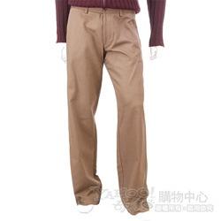 BOSS 褐色立體條紋休閒長褲