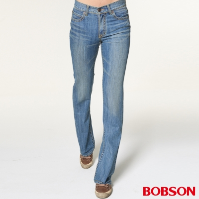 BOBSON 男款輕量低腰淺藍喇叭