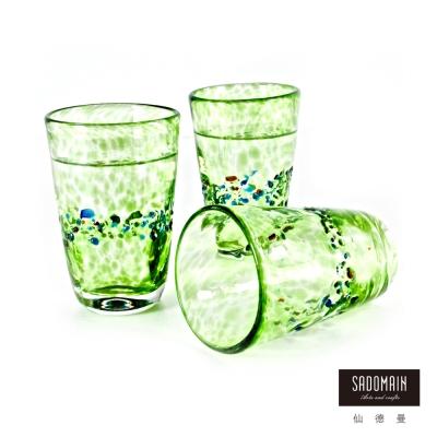 仙德曼SADOMAIN  彩玻窄口握杯(綠色)5入組