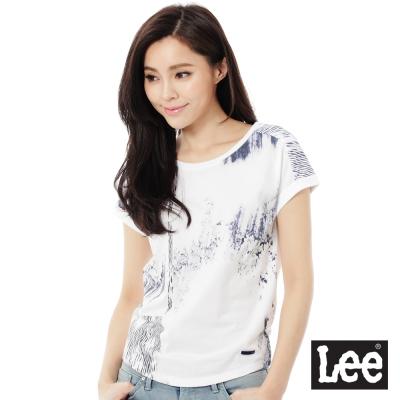 Lee INDIGO印刷短袖T恤-女-白