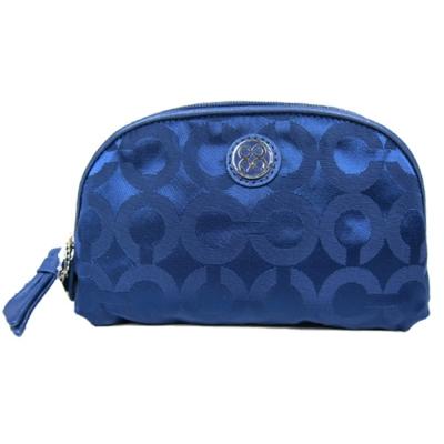 COACH JULIA系列緞面化妝包(藍)
