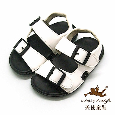 天使童鞋 馬卡龍輕巧穿涼鞋(小童)C295-白