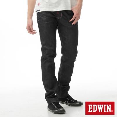 EDWIN 窄直筒 江戶勝紅布邊海浪牛仔褲-男-原藍色