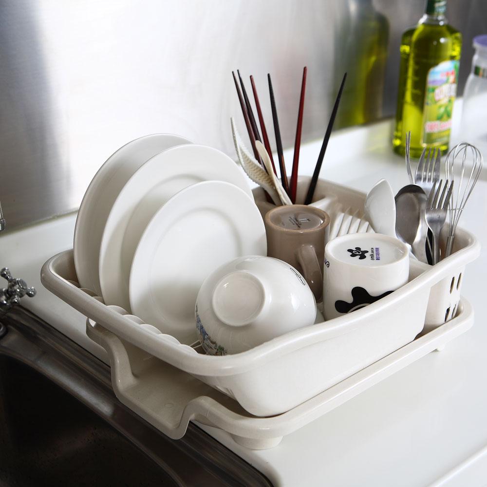 《排水式》碗盤收納瀝水架