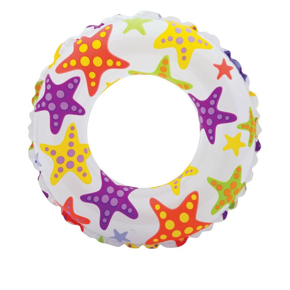 【INTEX】彩繪充氣浮圈游泳圈61cm