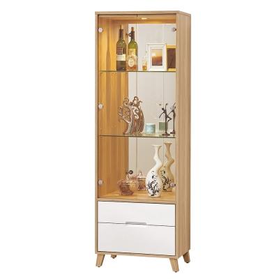 Bernice-羅曼尼2尺二門二抽展示櫃/書櫃-60x40x181cm
