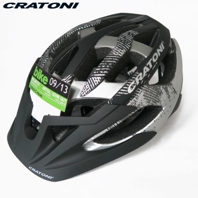 CRATONI 德國專業品牌 C-HAWK 登山車用安全帽-黑碳黑