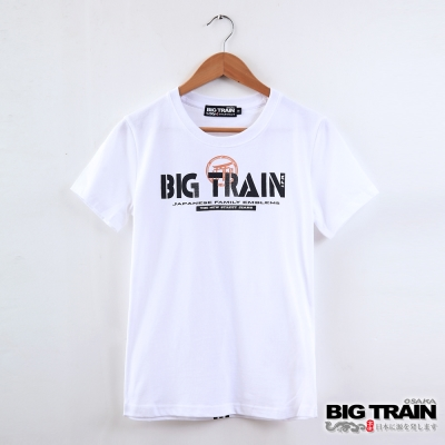 BIG TRAIN 日式嘻哈潮T女款-女-白色