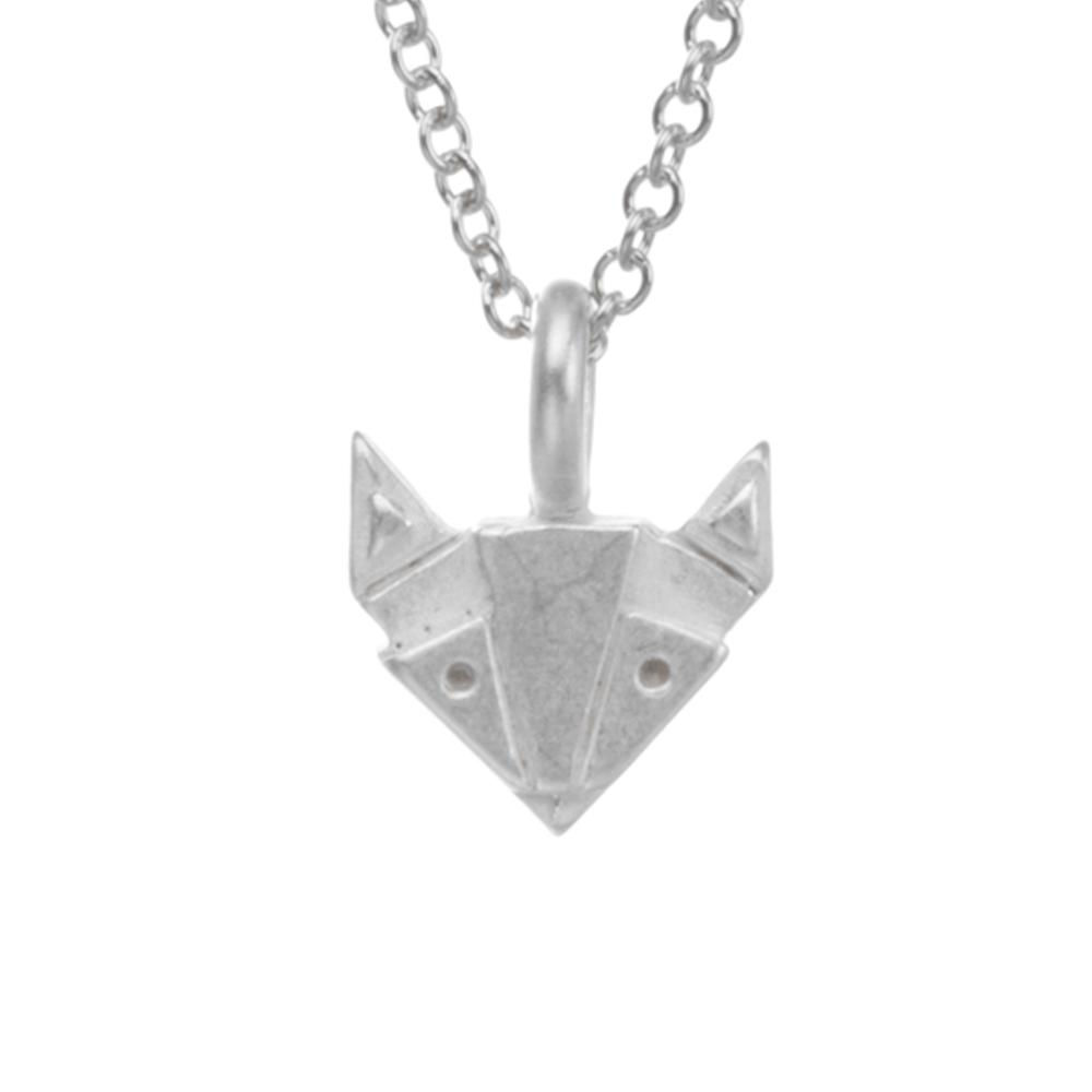 Dogeared geometric fox 銀色狐狸項鍊 美麗性感智慧 附原廠盒