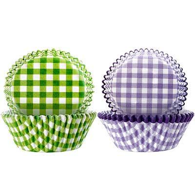 IBILI Sweet蛋糕紙模100入(綠紫格紋7.5cm)
