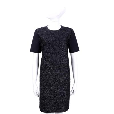 TORY BURCH 深藍色銀蔥短袖洋裝