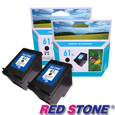 RED STONE for HP CH563WA(黑色×2)NO.61XL環保墨水匣組-高容量