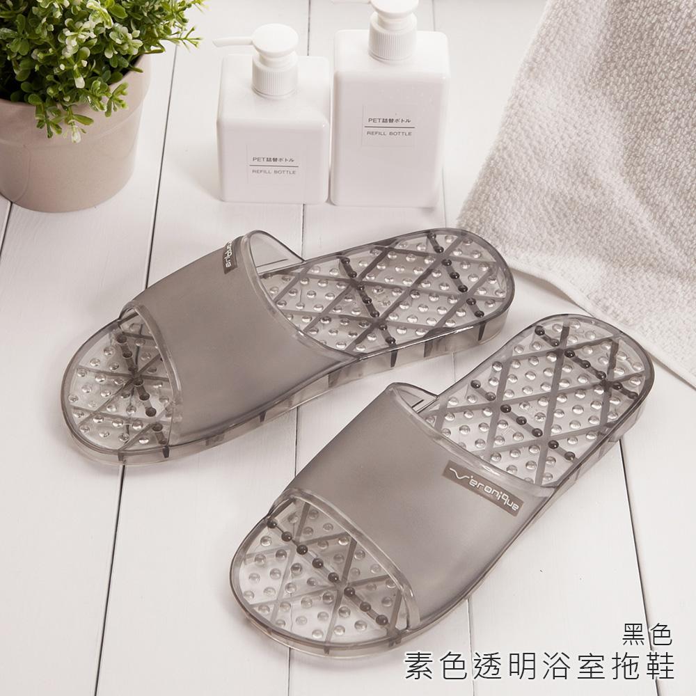 MIT認證商品★素色浴室拖鞋-黑色