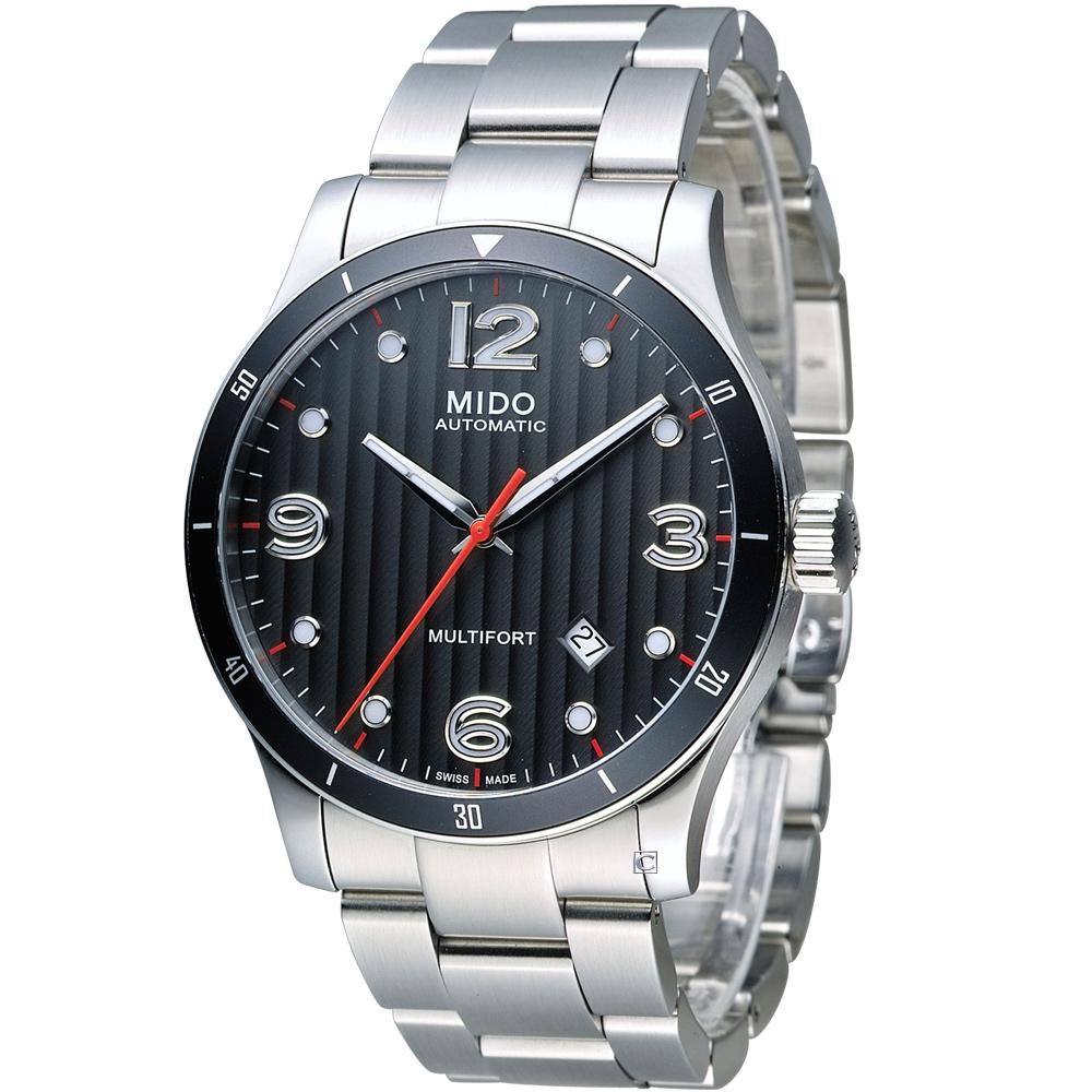 美度 MIDO Multifort 先鋒系列80小時機械錶-銀/42mm