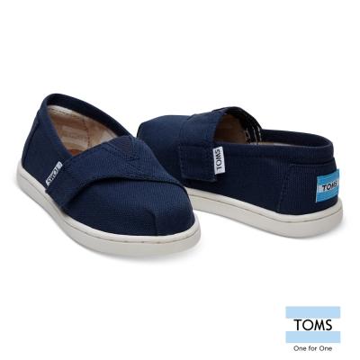 TOMS 經典帆布懶人鞋-幼童款