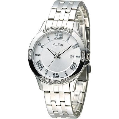 ALBA 情定羅馬晶鑽女錶-銀白(AG8405X1)/36mm 保固二年