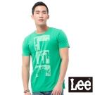 Lee 短袖T恤 圓領印刷 -男款(綠色)