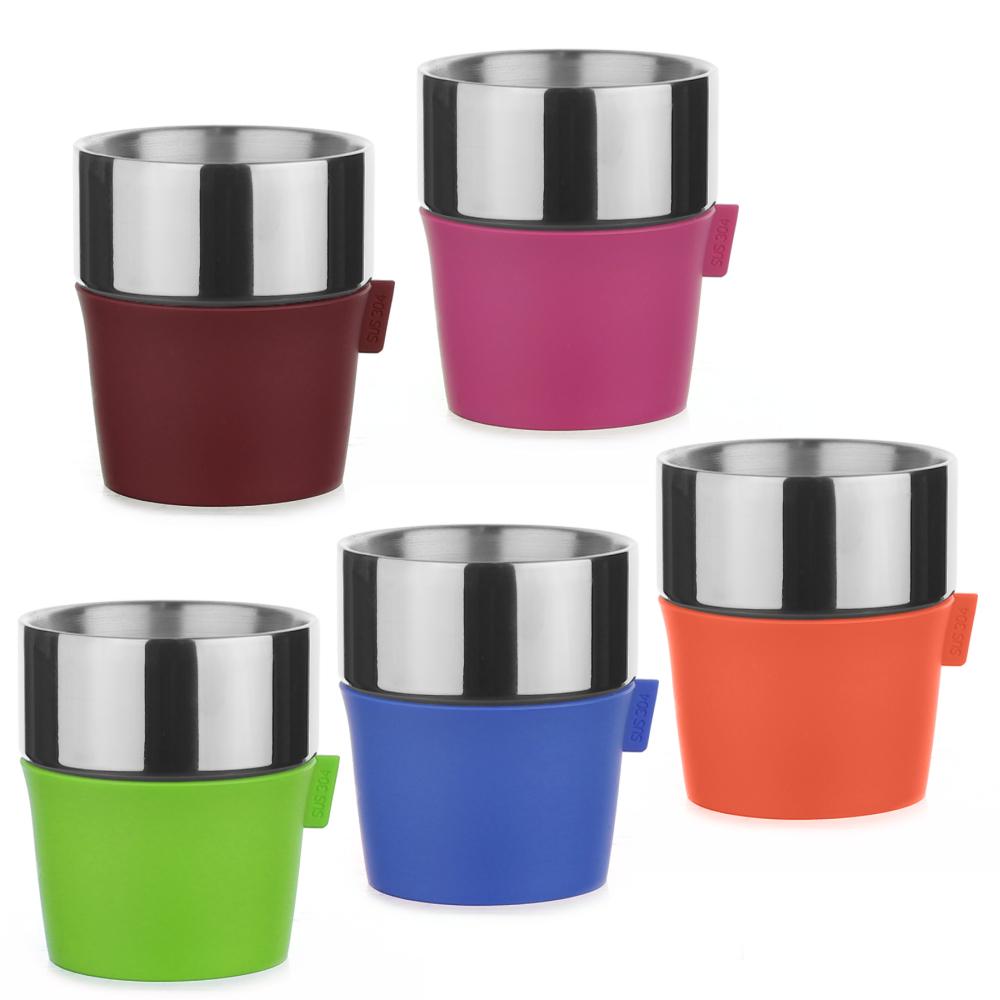 Driver 雙層咖啡杯350ml-五入/組(顏色隨機出貨)