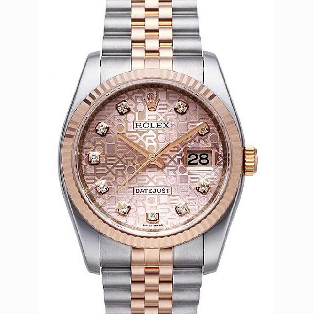 ROLEX 勞力士DateJust  116231經典蠔式日誌型腕錶-玫瑰金電腦紀念鑽面版