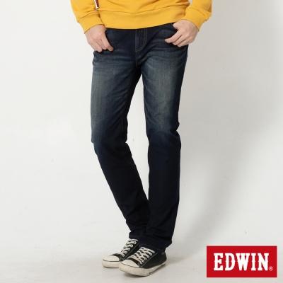 EDWIN 中直筒 迦績褲JERSEYS針織牛仔褲-男-酵洗藍