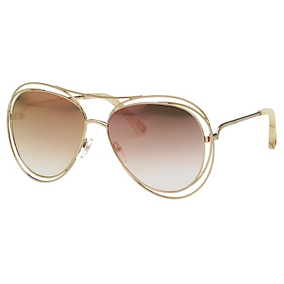 CHLOE 雷朋型 水銀面 太陽眼鏡 (金色) CE134S
