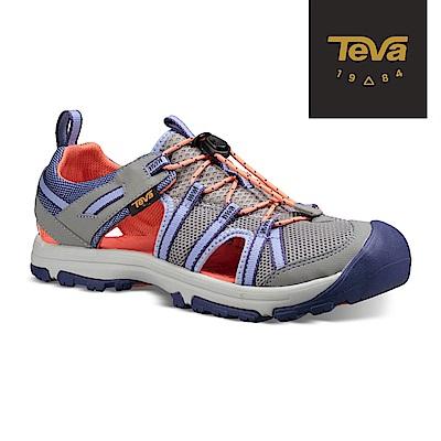 【TEVA】原廠貨 童 Manatee 多功能護趾運動涼鞋/雨鞋/水鞋/童鞋(鴿子灰)