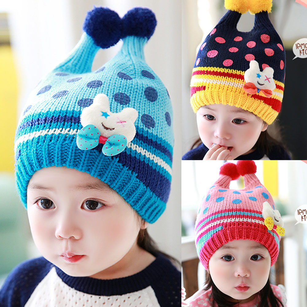 韓版可愛小兔子毛線帽