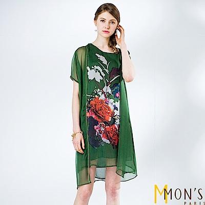 MONS-雙縐雪紡二件式洋裝
