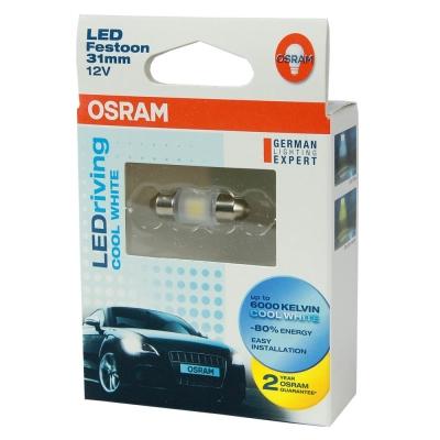 OSRAM LED 31mm 汽車室內燈6000K/6700K (2入)公司貨