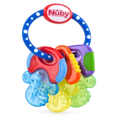 Nuby 冰膠固齒玩具-鑰匙造型(3M+)