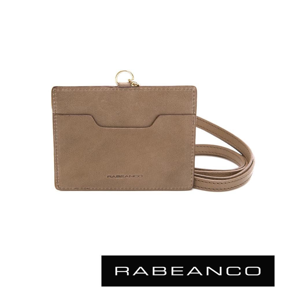 RABEANCO 時尚系列牛皮名片證件套 太空灰