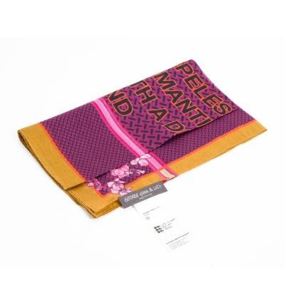 GG-L-PATCH-A-絲巾-混深粉紅印花
