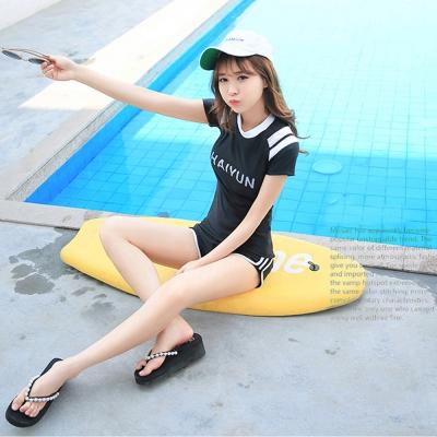 Biki比基尼妮泳衣  天韻短袖泳衣二件式泳衣(M-4XL)