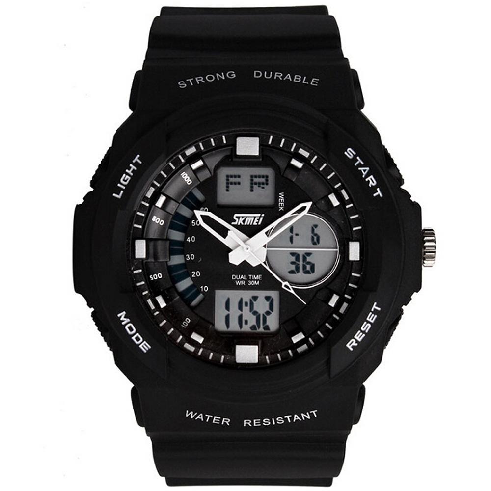 SKMEI 時刻美0955-雙機芯多功能防震防水電子錶
