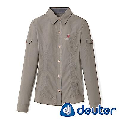 【ATUNAS 歐都納】德國DEUTER女款排汗透氣長袖襯衫DE-S1103W棕櫚卡