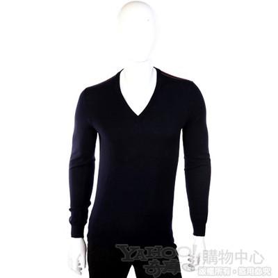 GUCCI V領針織長袖上衣(深藍色)