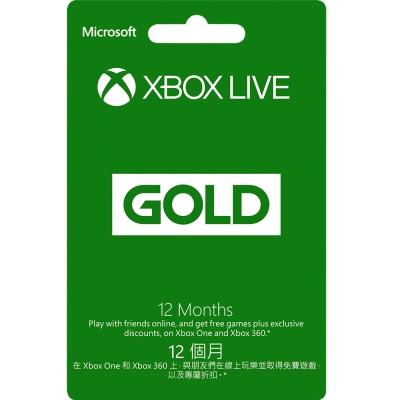 Xbox LIVE 12個月金會員訂閱卡(不適用鑑賞期)