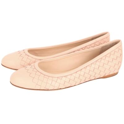 BOTTEGA VENETA NAPPA 經典編織平底鞋(裸膚色)
