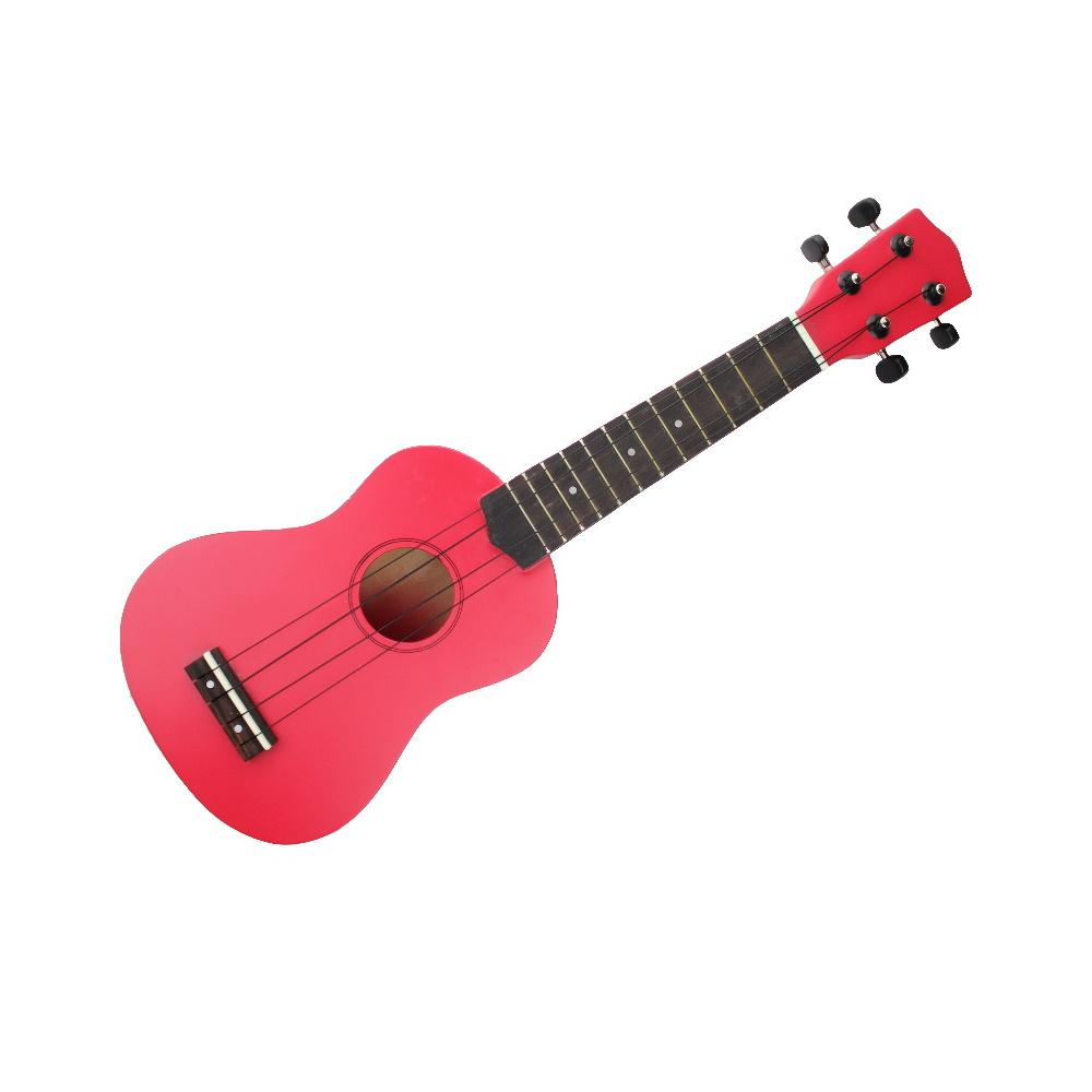 超值Ukulele 烏克麗麗 多彩夏威夷原木吉他+全配+再送背帶(桃紅色)試聽